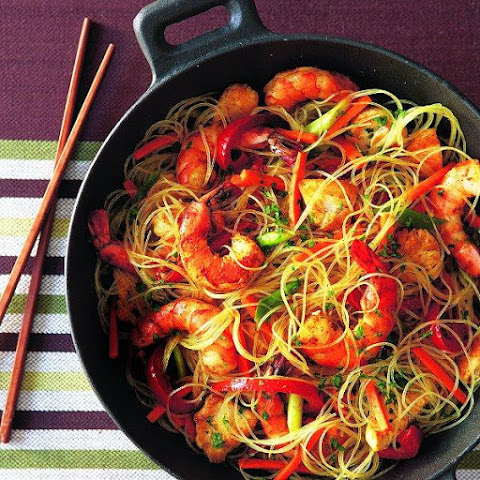 Singapore Noodles With Chicken And Shrimp Recipes   Yummly