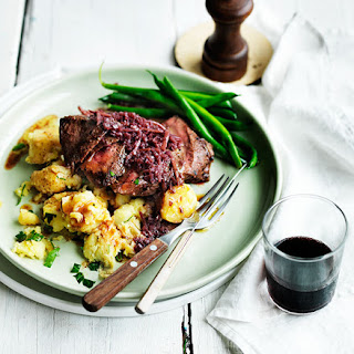 Flat Iron Steak With Red Wine Sauce Recipes