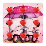 Pink bear theme sweetheart Icon