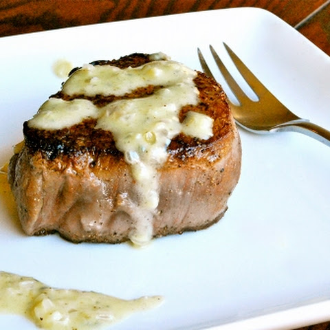 Filet Mignon with Gorgonzola Cream Sauce
