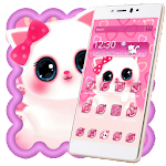 Pink Anime Kitty Icon