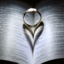 The book of love by Peter Salmon - Artistic Objects Jewelry ( ring, heart, shadow, book, shape )
