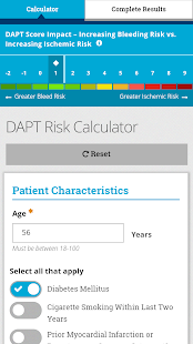 DAPT Risk Calculator screenshot for Android