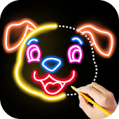 Download Draw Glow Animals APK on PC