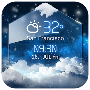 average temp &3D clock widget❆