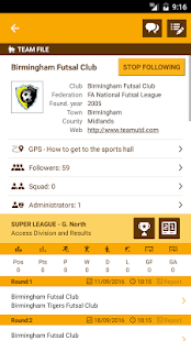 Futbee - The futsal network - screenshot