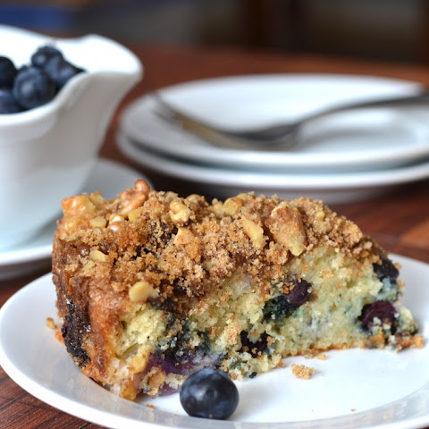 Blueberry-Apple Sour Cream Coffee Cake