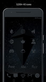Murdered Out Pro - Dark Icons - screenshot