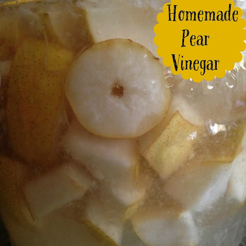 Pear Vinegar and Pear Walnut Gorgonzola Salad