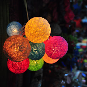 light balls by Mishesh Ramesh - Artistic Objects Other Objects ( colour, ball, market, round, light )