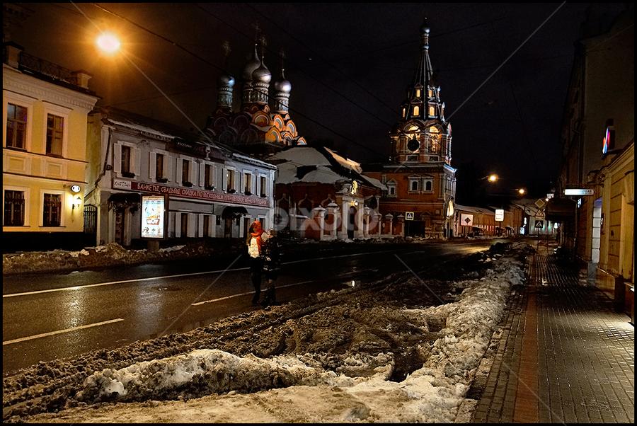 Polyanka street by Dmitry Ryzhkov - City,  Street & Park  Street Scenes