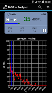 DiGiPro SPL Spectrum Analyzer - screenshot