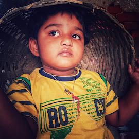 Oh Dear! by Subham Kolay - Babies & Children Child Portraits ( child, nephew, baby girl, lovely, child portrait, adorable, childhood,  )