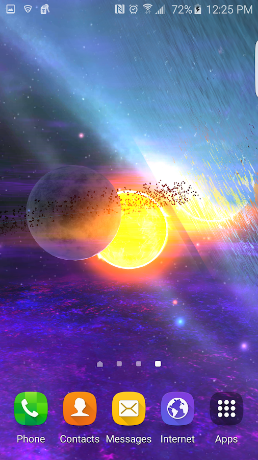 Alien Galaxy 3D Live Wallpaper Screenshot 6