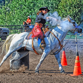 Mounted Shooting - 0062 by Twin Wranglers Baker - Sports & Fitness Rodeo/Bull Riding (  )