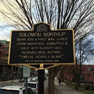 SOLOMON NORTHUP BORN 1808 A FREE MAN. LURED FROM SARATOGA, KIDNAPPED & SOLD INTO SLAVERY, 1841; RESCUED 1853. AUTHOR,