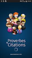Screenshot of Proverbes & Citations