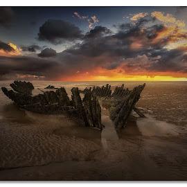 The Wreck by John Smart - Landscapes Sunsets & Sunrises