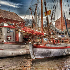 Old boat by Brynhilde Bålerud - Transportation Boats (  )
