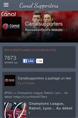 android Canal Supporters Officiel Screenshot 3