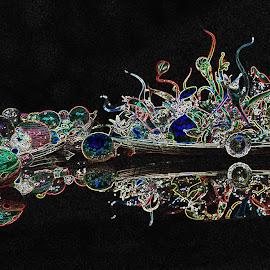 Glowing Chihuly Boat by Ada Irizarry-Montalvo - Digital Art Things (  )