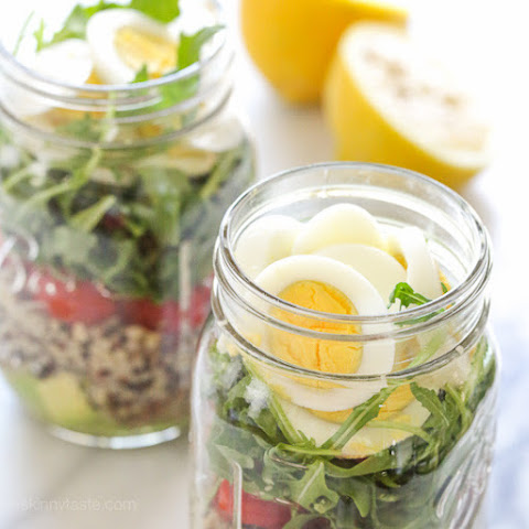 Protein Egg and Quinoa Salad Jars