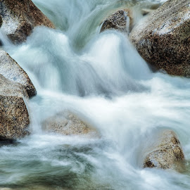 Mesmorizing Water by Garry Dosa - Landscapes Waterscapes ( water, winter, flowing, movement, outdoors, waterfall, action, rapids, rocks )