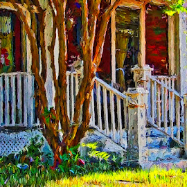 Afternoon at the Dixon's by Allen Crenshaw - Digital Art Places ( color, digital art, photography by allen crenshaw, achitecture, places, digital art by allen crenshaw, photography )