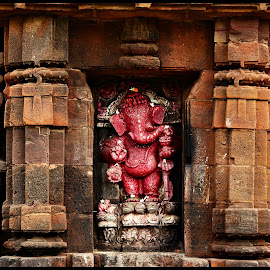 Lord Ganeshji by Prasanta Das - Buildings & Architecture Statues & Monuments ( temple, statue, external wall )