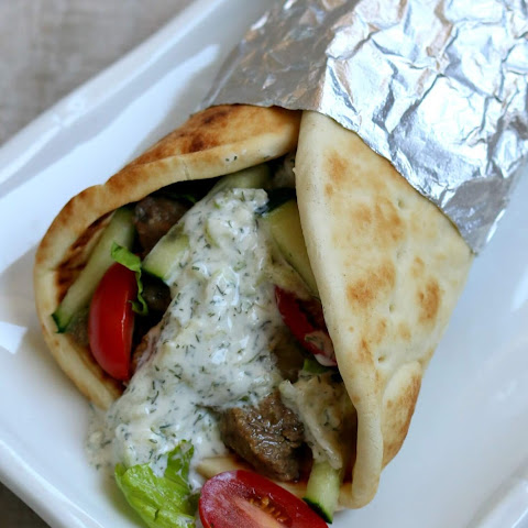 Recipe for Slow Cooker (Crock Pot) Beef Gyros with Tzatziki Sauce