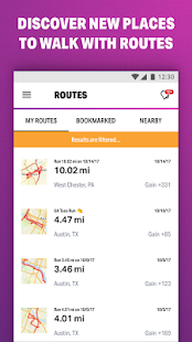 MapMyWalk+: GPS-Schrittz��hler Screenshot