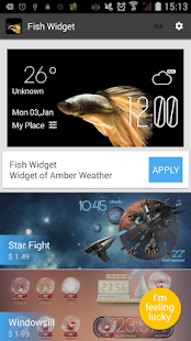 Fish weather widget/clock - screenshot