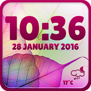 Transparent Clock and Weather