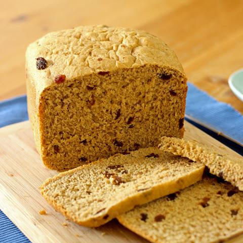 raisin bread in bread machine