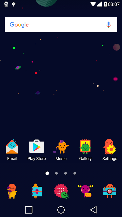 Space Theme for LGHome Screenshot 5