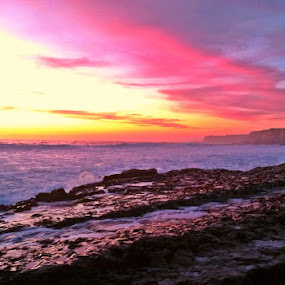 Shelf Life by Derek Gibbins - Instagram & Mobile iPhone ( cliffs, sunset, ocean, beach, rocks )