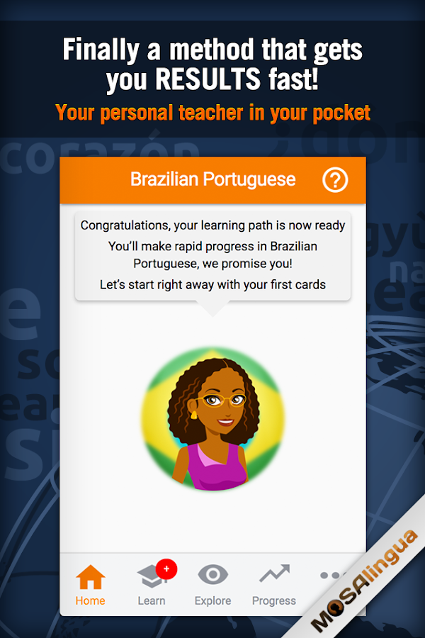 Learn Brazilian Portuguese Screenshot