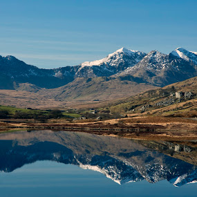Snowdonia by Peter Spowage - Landscapes Travel ( uk, mountains, reflection, wales, pwcreflections, snowdon )