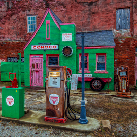 Conoco by Michael Buffington - Buildings & Architecture Other Exteriors ( old, exterior, vintage, gas station, transportation )