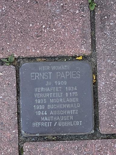 Stolperstein Ernst Papies