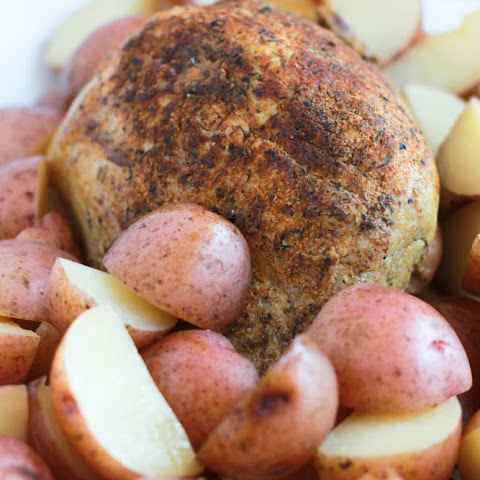 Slow Cooker Pork Sirloin Tip Roast with Red Potatoes