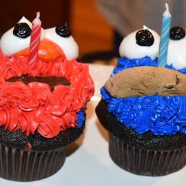 Elmo and Cookie Monster by Lorraine D.  Heaney - Food & Drink Candy & Dessert
