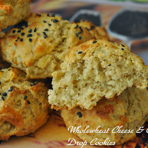 Wholewheat Cheese & Oregano Drop Cookies