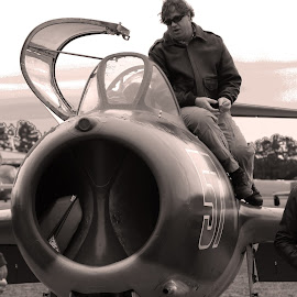 Mig by Jak Conrad - Novices Only Objects & Still Life ( b&w, plane, airplane, mig, jet, fighter )
