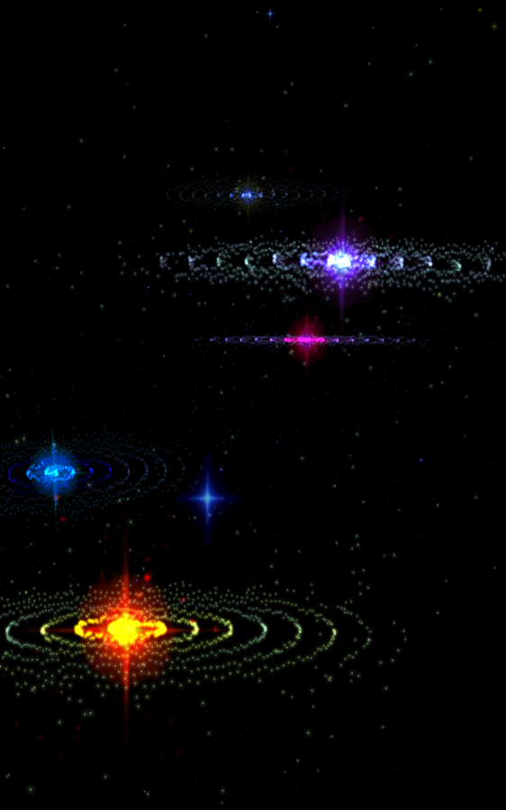 3D Stars Music Visualizer Screenshot