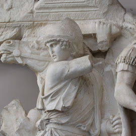 Roman Warrior, Ephesus, Turkey by Rhetta Sweeney - Artistic Objects Other Objects ( warrior, sculpture, ephesus, roman empire, turkey )