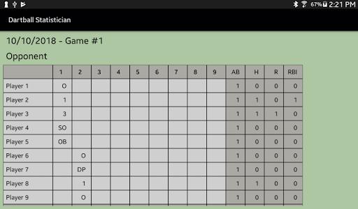 Dartball Statistician screenshot 10