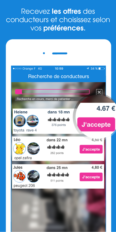 Citygoo - covoiturage urbain Screenshot 2