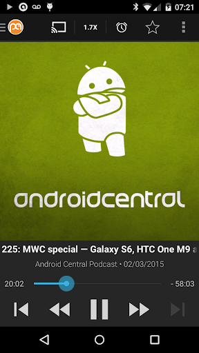 Podcast Addict (Android 2.3) screenshot 1