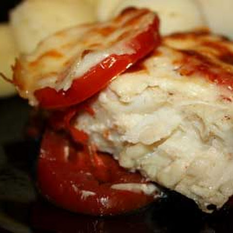 Baked Cod Fillets with Tomatoes and Cheese